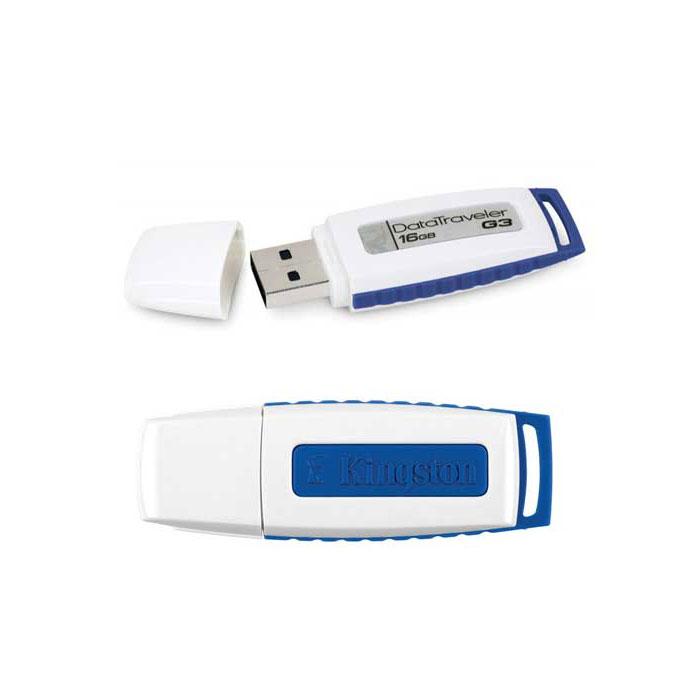 Kingston 16GB USB 2.0 Datatraveler I GEN 3 White/Blue