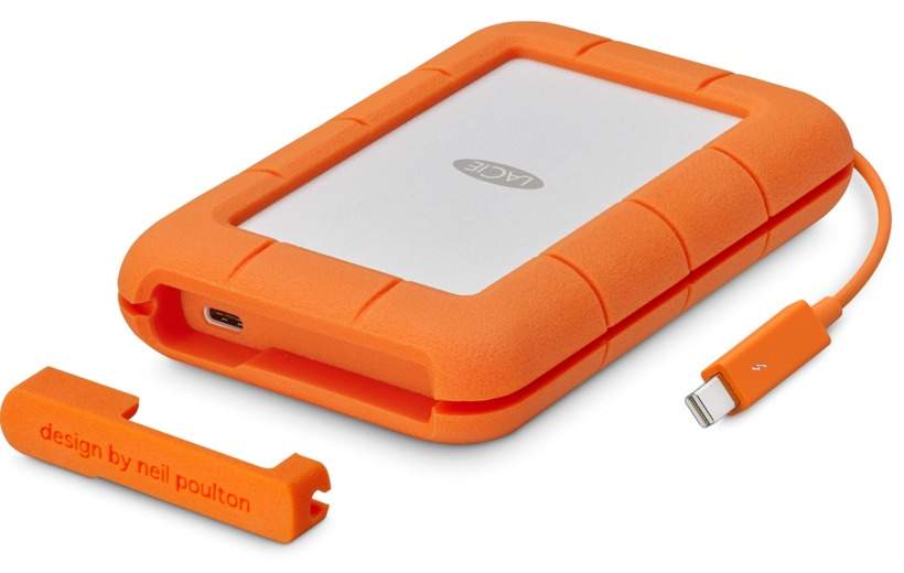 "Lacie 2TB 2.5""USB-C/USB3.0 Rugged SECURE"