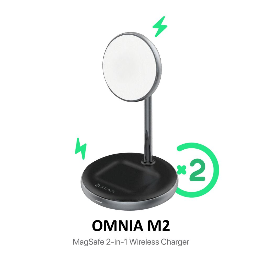 Omnia M2 Magnetic 2 in 1 Wireless Charging Dock